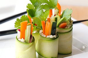 Super Bowl Recipes - Raw Zucchini Sushi Rolls